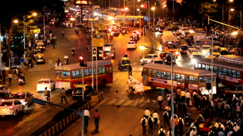 mumbai india asia chhatrapati shivaji terminus - cityscape stock videos & royalty-free footage