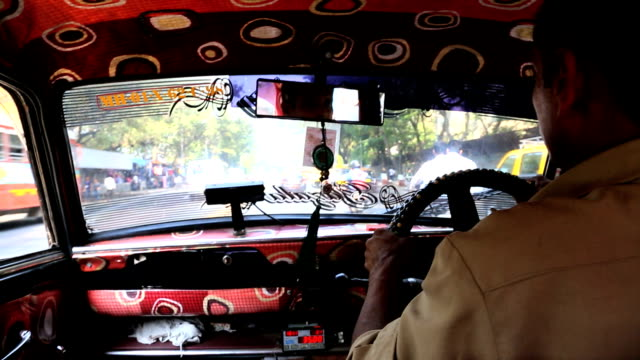 Mumbai India Asia taxi male driving car motorized