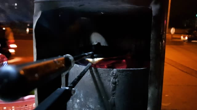 mumbai street food scene - sandwich on a coal grill - spice stock videos and b-roll footage