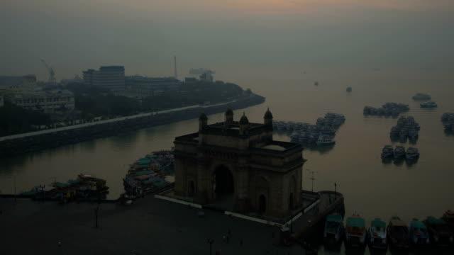 Mumbai time lapse Gateway India Maharashtra Asia
