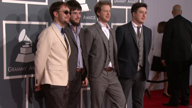 Mumford Sons at 54th Annual GRAMMY Awards Arrivals on 2/12/12 in Los Angeles CA