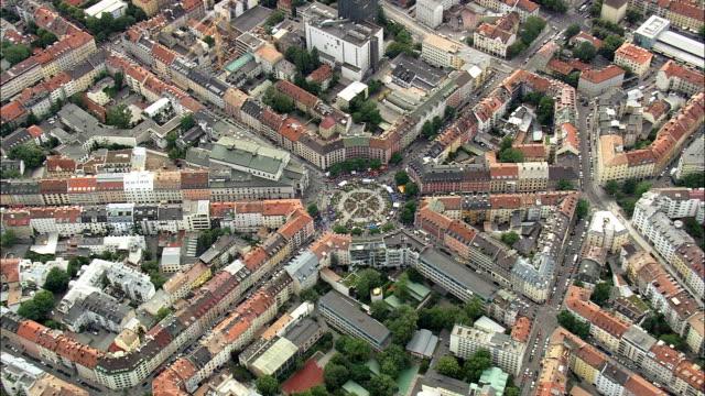 Munich - Aerial View - Bavaria,  Upper Bavaria,  Munich,  Urban District helicopter filming,  aerial video,  cineflex,  establishing shot,  Germany