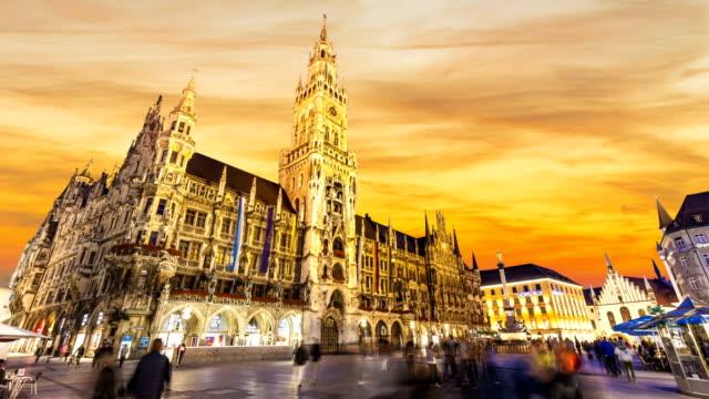 Munich at sunset, Time Lapse