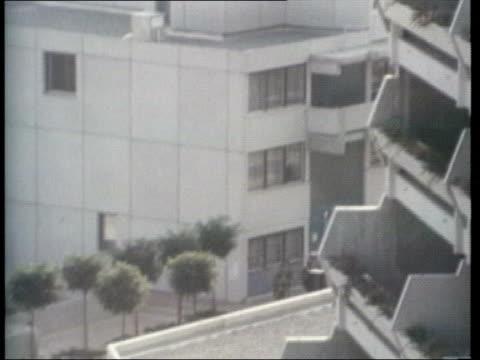 munich olympic massacre apartments where hostages held/ athletes evacuating village - munich massacre stock videos & royalty-free footage