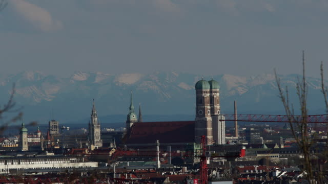Munich Skyline Mountain 2