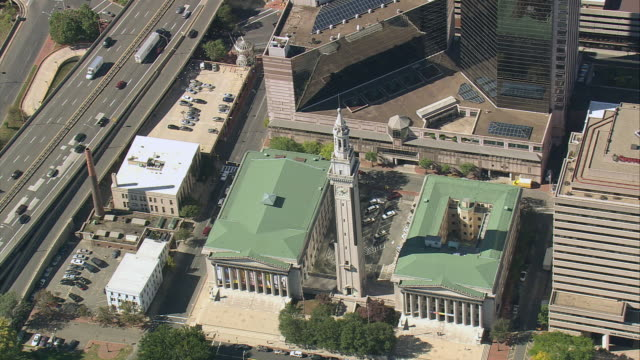 aerial municipal building / springfield, massachusetts, united states - springfield massachusetts stock videos & royalty-free footage