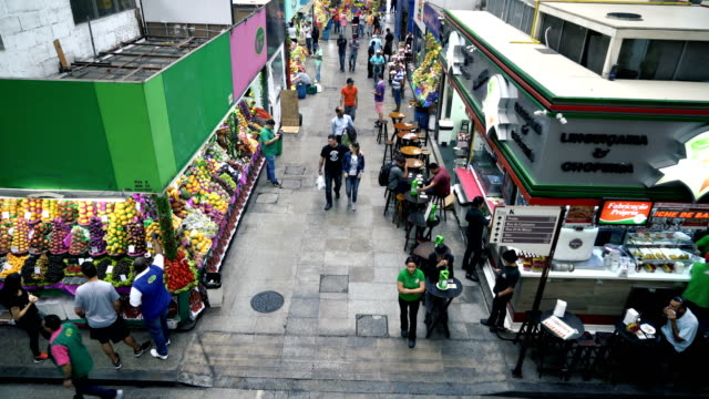 municipal market (mercado municipal) in sao paulo, brazil - midsection stock videos and b-roll footage
