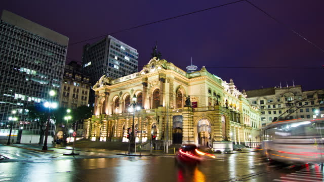 municipal theater - sao paulo - são paulo stock videos & royalty-free footage