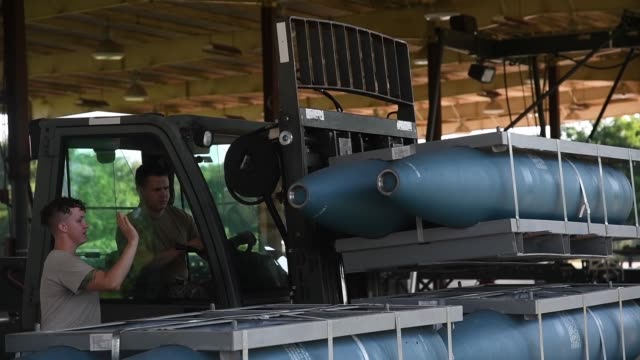 munitions squadron airmen from barksdale air force base practice for global strike challenge 2019. - army stock videos & royalty-free footage
