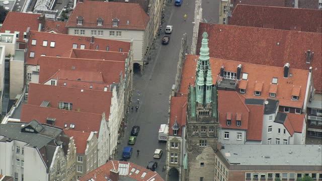 AERIAL Munster rooftops, North Rhine-Westphalia, Germany