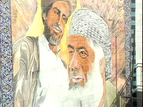 mural depicting middle eastern men on wall / afghanistan - male likeness stock videos & royalty-free footage
