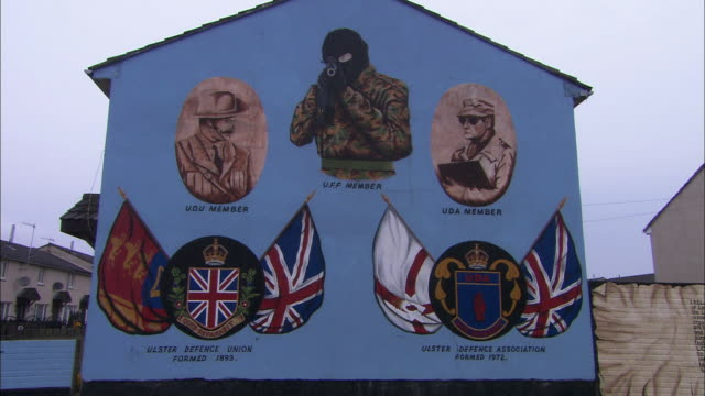 Mural on house wall, Belfast, Northern Ireland
