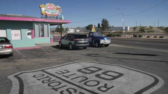 mural on route 66, kingman, arizona, united states of america, north america - kingman arizona stock videos & royalty-free footage