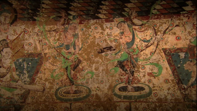 Murals with two dancing figures