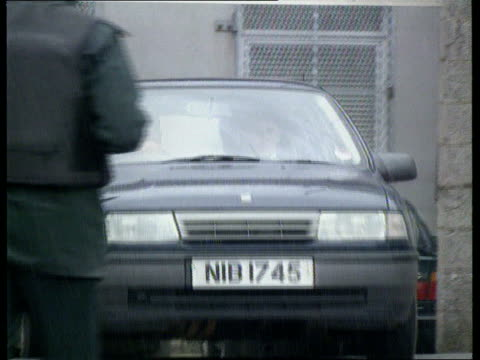 murder charge; n.ireland co armagh lms car carrying lawrence maguire along l-r lbv car away - county armagh stock videos & royalty-free footage
