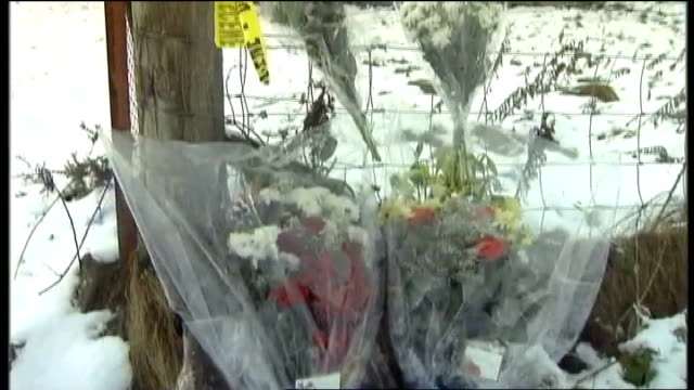 Murder hunt launched after body of missing teenager found on Isle of Lewis SCOTLAND Outer Hebrides Isle of Lewis Stornoway Floral tributes at fence...