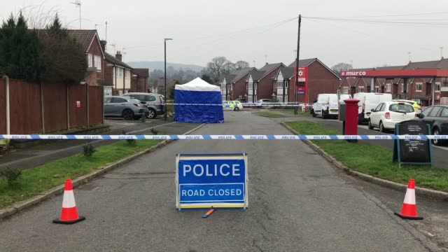murder investigation has been launched after two people were found dead in a home in derbyshire. derbyshire constabulary were called to a house on... - derbyshire stock videos & royalty-free footage