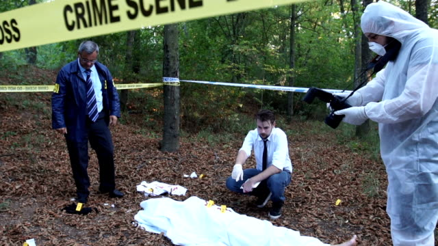 Murder investigation in the forest
