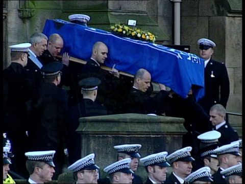 murdered pc ian broadhurst funeral held also available lay - pc ian broadhurst stock videos & royalty-free footage