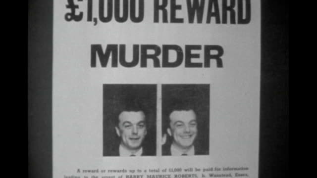 murderer harry roberts granted parole 1966 harry roberts wanted poster pull out/ ext b/w police officers stand outside court entrance b/w prison van... - harry roberts criminal stock videos & royalty-free footage