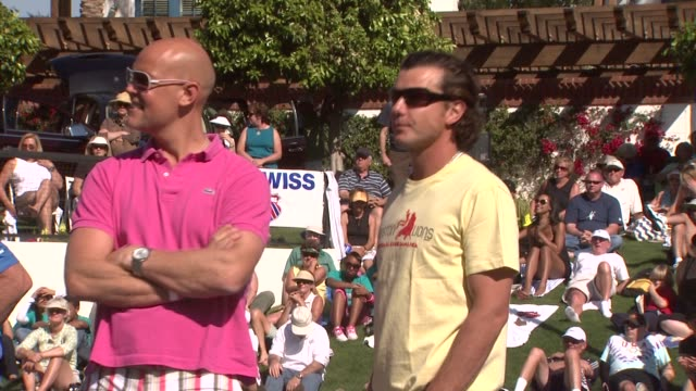 Murphy Jensen Gavin Rossdale at the 5th Annual KSwiss Desert Smash at Palm Springs CA