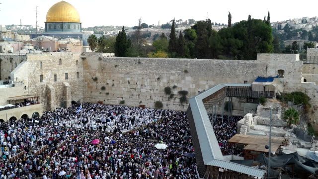 musaf prayer on sukkot festival - jerusalem old city stock videos and b-roll footage