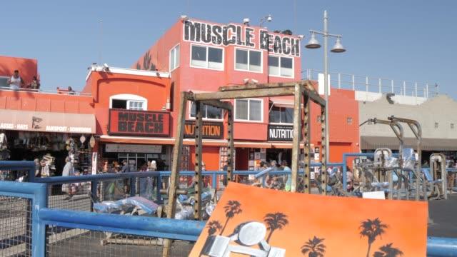 Muscle Beach at Venice Beach, Santa Monica, Los Angeles, California, United States of America, North America