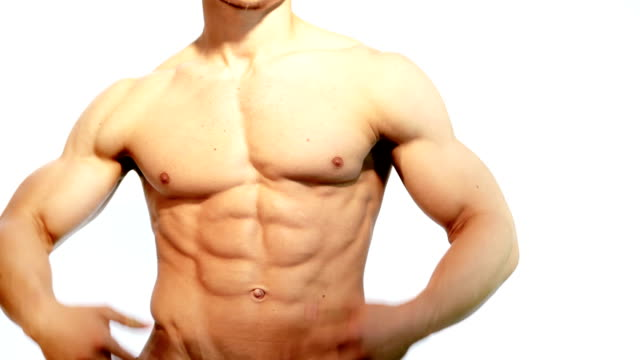 muscular male torso - body building stock videos & royalty-free footage
