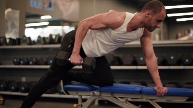 vídeos de stock e filmes b-roll de muscular men/ mielec/ poland - banco assento