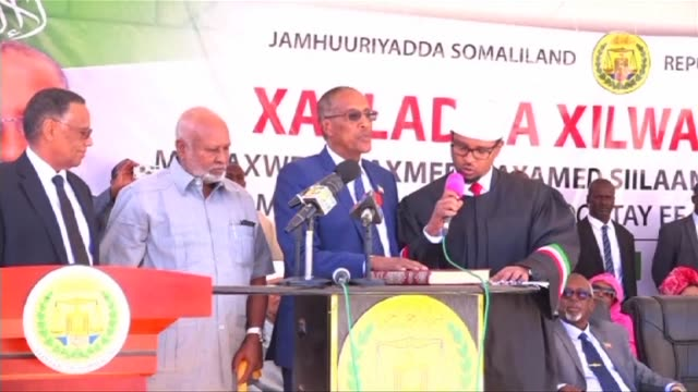 Muse Bihi from the ruling Kulmiye party who won the recent presidential election in the self proclaimed state of Somaliland was inaugurated into...