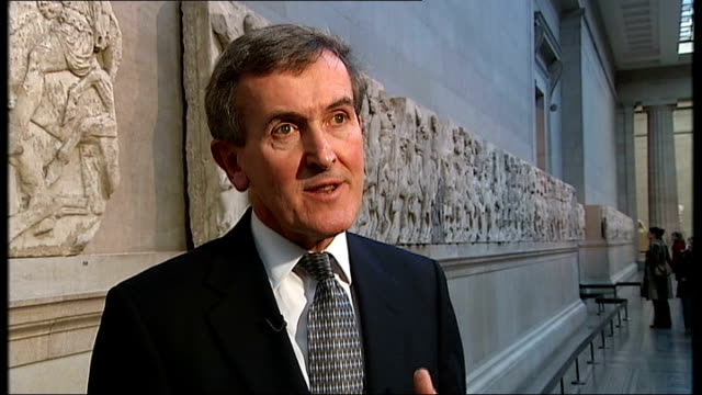 museum built to house elgin marbles; england: london: british museum: neil macgregor interview sot - neil macgregor stock videos & royalty-free footage