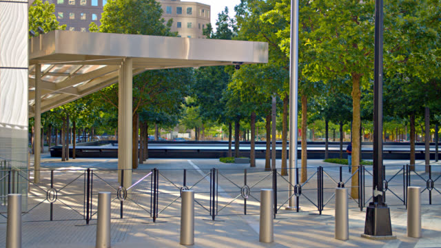 9/11 museum entrance and memorial - memorial event stock videos & royalty-free footage