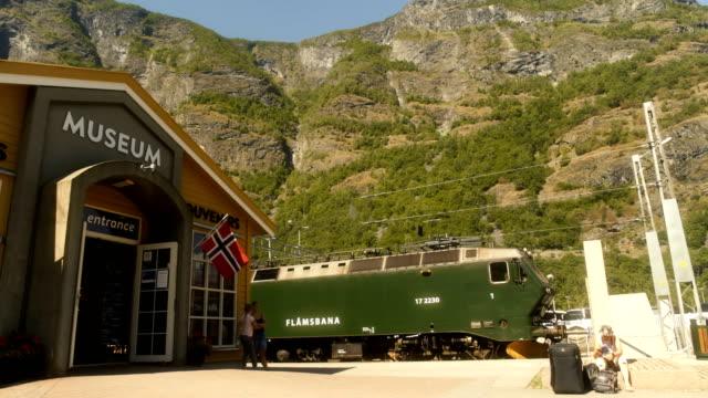 museum in the flords of flåm norway - nutshell stock videos & royalty-free footage