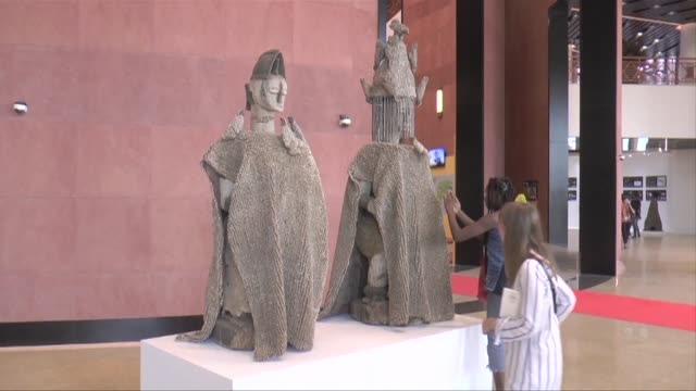 a museum showcasing black heritage from the dawn of time to the modern era is inaugurated in the senegalese capital dakar as demands by african... - former stock videos & royalty-free footage