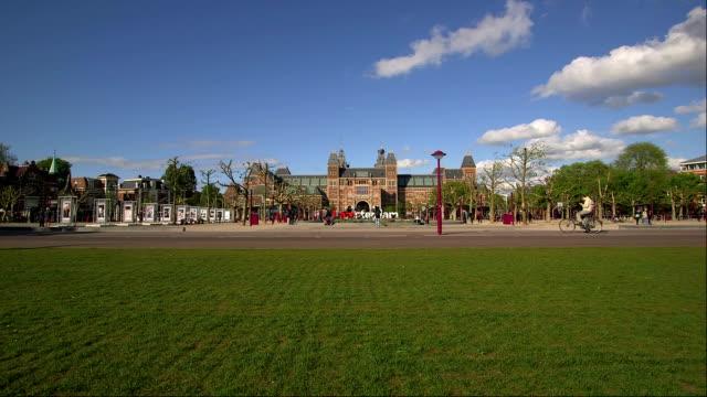 Museumplein with Rijksmuseum, Amsterdam, the Netherlands