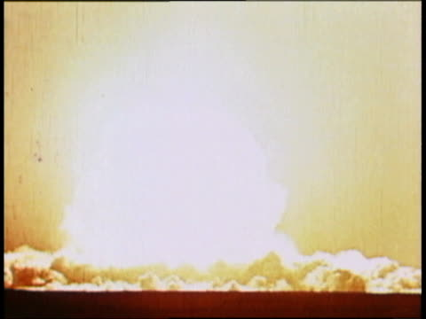a mushroom cloud from an atomic bomb explosion / beijing china - atomic bomb testing stock videos & royalty-free footage