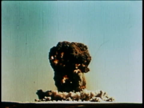 A mushroom cloud from an atomic bomb explosion / Beijing China