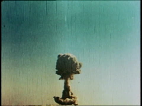 mushroom cloud from an atomic bomb explosion / beijing, china - atomic bomb stock videos & royalty-free footage