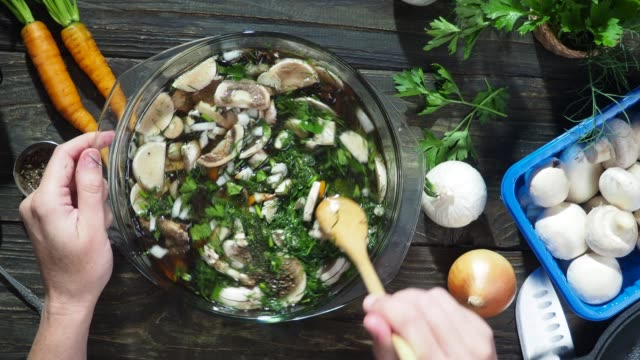 mushroom soup cooking - parsley stock videos and b-roll footage