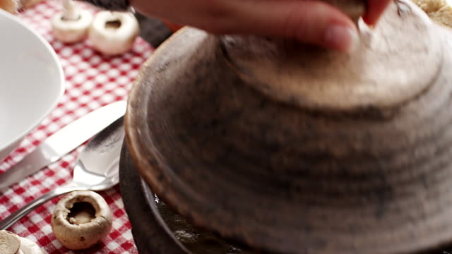 mushroom soup - chowder stock videos and b-roll footage