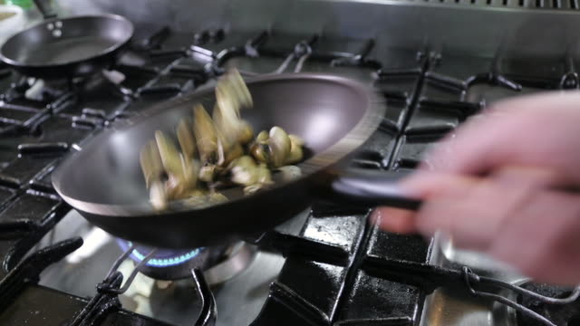 mushrooms and cheese in frying pan - frying pan stock videos & royalty-free footage