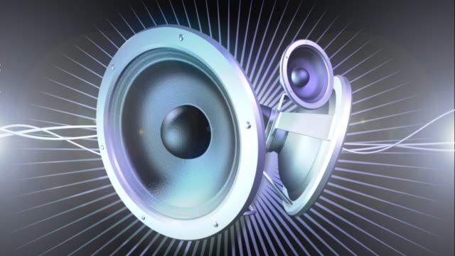 vidéos et rushes de boucle de la musique 01 avec haut-parleur - matériel hi fi