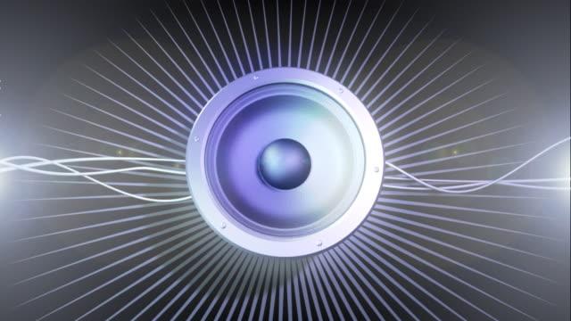 loop musica 02 altoparlante - hi fi video stock e b–roll