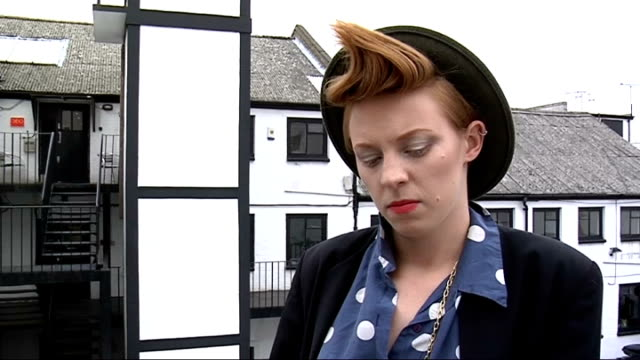 2009 mercury prize interviews with speech debelle and la roux elly jackson interview continues sot how she would react if she won / looking forward... - awards ceremony stock videos and b-roll footage