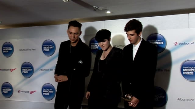 2010 barclaycard mercury music prize in london interviews with winners 'the xx' and other nominees england london grosvenor house int members of the... - croft stock videos & royalty-free footage