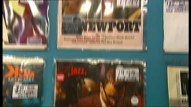 Adam Ant interview on Record Store Day Sister Ray Record Store INT **Music heard SOT** Hands flicking through vinyls in record store / vinyl records...