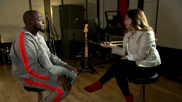 afrobeats star davido interested in possible political career in nigeria england london int davido adeleke interview sot - possible stock videos & royalty-free footage