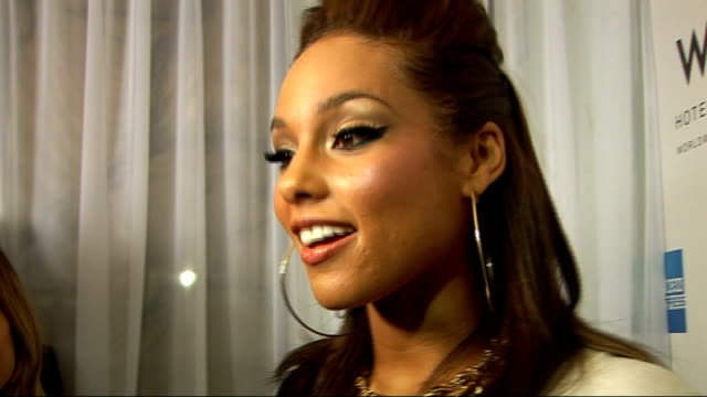 Alicia Keys 'The Element Of Freedom' album launch celebrity interviews General view Alicia Keys being interviewed being interviewed SOT Alicia Keys...