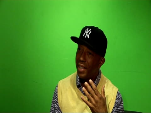 Music and fashion mogul Russell Simmons interview ENGLAND London INT Russell Simmons interview SOT Talks of the Def Comedy Jam tour / talks of...