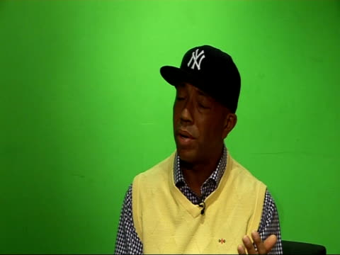 Music and fashion mogul Russell Simmons interview Talks of it being insulting to use Sarah Palin to chase the votes of women voters / talks of need...